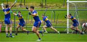 4 October 2020; Joey Wallace of Ratoath, fourth from left, and his team-mates, celebrate their side's winning goal in the last minute of the Meath County Senior Football Championship Final match between Ratoath and Gaeil Colmcille at Páirc Táilteann in Navan, Meath. Photo by Brendan Moran/Sportsfile