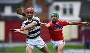4 October 2020; Fergal Moore of Turloughmore in action against David Burke of St Thomas' during the Galway County Senior Hurling Championship Final match between Turloughmore and St Thomas at Kenny Park in Athenry, Galway. Photo by David Fitzgerald/Sportsfile