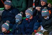 4 October 2020; Gaeil Colmcille supporters wearing facemasks during the Meath County Senior Football Championship Final match between Ratoath and Gaeil Colmcille at Páirc Táilteann in Navan, Meath. Photo by Brendan Moran/Sportsfile
