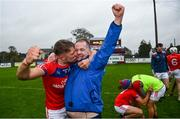 4 October 2020; Fintan Burke of St Thomas' celebrates with selector TJ Ryan following the Galway County Senior Hurling Championship Final match between Turloughmore and St Thomas at Kenny Park in Athenry, Galway. Photo by David Fitzgerald/Sportsfile