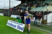 4 October 2020; Ratoath captain Bryan McMahon walks away with the Keegan cup after the Meath County Senior Football Championship Final match between Ratoath and Gaeil Colmcille at Páirc Táilteann in Navan, Meath. Photo by Brendan Moran/Sportsfile