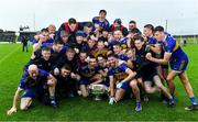 4 October 2020; The Ratoath team celebrate with the Keegan cup after the Meath County Senior Football Championship Final match between Ratoath and Gaeil Colmcille at Páirc Táilteann in Navan, Meath. Photo by Brendan Moran/Sportsfile