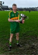 4 October 2020; Rhode captain Niall Darby with the Dowling Cup after the Offaly County Senior Football Championship Final match between Rhode and Tullamore at Bord na Móna O'Connor Park in Tullamore, Offaly. Photo by Piaras Ó Mídheach/Sportsfile