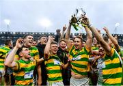 4 October 2020; Blackrock players, including Niall Cashman, centre, celebrate with the Sean Óg Murphy Cup following the Cork County Premier Senior Club Hurling Championship Final match between Glen Rovers and Blackrock at Páirc Ui Chaoimh in Cork. Photo by Sam Barnes/Sportsfile