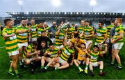 4 October 2020; Blackrock players celebrbate with the Sean Óg Murphy Cup following the Cork County Premier Senior Club Hurling Championship Final match between Glen Rovers and Blackrock at Páirc Ui Chaoimh in Cork. Photo by Sam Barnes/Sportsfile