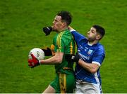 4 October 2020; Niall McNamee of Rhode gathers possession under pressure from Paul McConway of Tullamore during the Offaly County Senior Football Championship Final match between Rhode and Tullamore at Bord na Móna O'Connor Park in Tullamore, Offaly. Photo by Piaras Ó Mídheach/Sportsfile