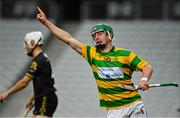 4 October 2020; Robbie Cotter of Blackrock celebrates after scoring his side's fourth goal during the Cork County Premier Senior Club Hurling Championship Final match between Glen Rovers and Blackrock at Páirc Ui Chaoimh in Cork. Photo by Sam Barnes/Sportsfile