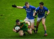 4 October 2020; Aaron Kellaghan of Rhode in action against Patrick Robilliard, and Ciarán Burns of Tullamore during the Offaly County Senior Football Championship Final match between Rhode and Tullamore at Bord na Móna O'Connor Park in Tullamore, Offaly. Photo by Piaras Ó Mídheach/Sportsfile
