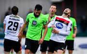 4 October 2020; Michael Duffy of Dundalk shows his frustration during the SSE Airtricity League Premier Division match between Dundalk and Finn Harps at Oriel Park in Dundalk, Louth. Photo by Harry Murphy/Sportsfile