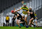 4 October 2020; Eoin O'Farrell of Blackrock in action against Dale Tynan, left, and Patrick Horgan of Glen Rovers during the Cork County Premier Senior Club Hurling Championship Final match between Glen Rovers and Blackrock at Páirc Ui Chaoimh in Cork. Photo by Sam Barnes/Sportsfile