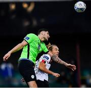 4 October 2020; Greg Sloggett of Dundalk in action against Kosovar Sadiki of Finn Harps during the SSE Airtricity League Premier Division match between Dundalk and Finn Harps at Oriel Park in Dundalk, Louth. Photo by Harry Murphy/Sportsfile