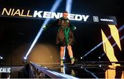 4 October 2020; Niall Kennedy makes his way to the ring ahead of his heavyweight bout against Alen Babic at the Marshall Arena in Milton Keynes, England. Photo by Mark Robinson / Matchroom Boxing via Sportsfile