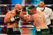 4 October 2020; Niall Kennedy, right, and Alen Babic during their heavyweight bout at the Marshall Arena in Milton Keynes, England. Photo by Mark Robinson / Matchroom Boxing via Sportsfile