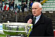 4 October 2020; Meath County Board chairman John Kavanagh makes a speech after the Meath County Senior Football Championship Final match between Ratoath and Gaeil Colmcille at Páirc Táilteann in Navan, Meath. Photo by Brendan Moran/Sportsfile