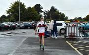 4 October 2020; Jordan Muldoon of Gaeil Colmcille makes his way to his car before heading home after the Meath County Senior Football Championship Final match between Ratoath and Gaeil Colmcille at Páirc Táilteann in Navan, Meath. Photo by Brendan Moran/Sportsfile
