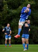 6 October 2020; James Ryan, left, and Cian Healy during Leinster Rugby squad training at UCD in Dublin. Photo by Brendan Moran/Sportsfile