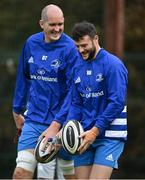 6 October 2020; Devin Toner, left, and Robbie Henshaw during Leinster Rugby squad training at UCD in Dublin. Photo by Brendan Moran/Sportsfile