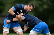 6 October 2020; Ryan Baird, left, and Rhys Ruddock during Leinster Rugby squad training at UCD in Dublin. Photo by Brendan Moran/Sportsfile