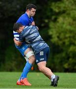 6 October 2020; James Ryan, left, and Tom Clarkson during Leinster Rugby squad training at UCD in Dublin. Photo by Brendan Moran/Sportsfile