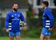 6 October 2020; Jamison Gibson-Park, left, and Hugo Keenan during Leinster Rugby squad training at UCD in Dublin. Photo by Brendan Moran/Sportsfile