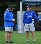 6 October 2020; Scrum coach Robin McBryde, left, and backs coach Felipe Contepomi during Leinster Rugby squad training at UCD in Dublin. Photo by Brendan Moran/Sportsfile
