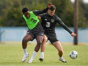 6 October 2020; Luke McNally and Jonathan Afolabi during a Republic of Ireland U21's training session at Johnstown House in Meath. Photo by Matt Browne/Sportsfile
