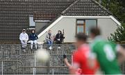3 October 2020; Spectators look on from outside the ground during the Kildare County Senior Football Championship Final match between Moorefield and Athy at St Conleth's Park in Newbridge, Kildare. Photo by Piaras Ó Mídheach/Sportsfile