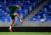 7 October 2020; Adam Idah during a Republic of Ireland training session at Tehelné pole in Bratislava, Slovakia. Photo by Stephen McCarthy/Sportsfile