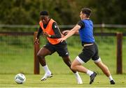 8 October 2020; Jonathan Afolabi in action against Conor McCarthy during a Republic of Ireland U21's Training Session at Johnstown House in Enfield, Meath. Photo by Matt Browne/Sportsfile