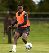 8 October 2020; Jonathan Afolabi in action during a Republic of Ireland U21's Training Session at Johnstown House in Enfield, Meath. Photo by Matt Browne/Sportsfile