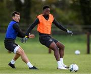 8 October 2020; Jonathan Afolabi and Thomas O'Connor in action during a Republic of Ireland U21's Training Session at Johnstown House in Enfield, Meath. Photo by Matt Browne/Sportsfile