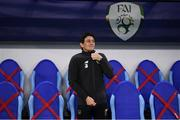 8 October 2020; Republic of Ireland coach Keith Andrews prior to the UEFA EURO2020 Qualifying Play-Off Semi-Final match between Slovakia and Republic of Ireland at Tehelné pole in Bratislava, Slovakia. Photo by Stephen McCarthy/Sportsfile