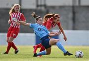 10 October 2020; Emily Whelan of Shelbourne in action against Alannah Mitchell of Treaty United during the Women's National League match between Treaty United and Shelbourne at Jackman Park in Limerick. Photo by Ramsey Cardy/Sportsfile