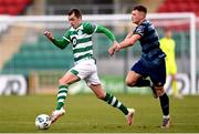 10 October 2020; Sean Kavanagh of Shamrock Rovers II in action against Callum Thompson of Bray Wanderers during the SSE Airtricity League First Division match between Shamrock Rovers II and Bray Wanderers at Tallaght Stadium in Dublin. Photo by Harry Murphy/Sportsfile