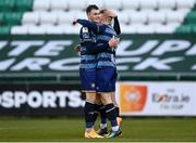 10 October 2020; Derek Daly of Bray Wanderers, right, celebrates with Joe Doyle after scoring his side's second goal during the SSE Airtricity League First Division match between Shamrock Rovers II and Bray Wanderers at Tallaght Stadium in Dublin. Photo by Harry Murphy/Sportsfile