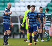 10 October 2020; Paul Keegan of Bray Wanderers, left, and team-mate Dylan Barnett following the SSE Airtricity League First Division match between Shamrock Rovers II and Bray Wanderers at Tallaght Stadium in Dublin. Photo by Harry Murphy/Sportsfile