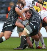 10 October 2020; Jack McGrath of Ulster is tackled by Tom Botha and Olly Cracknell of Ospreys during the Guinness PRO14 match between Ospreys and Ulster at Liberty Stadium in Swansea, Wales. Photo by Chris Fairweather/Sportsfile