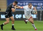 10 October 2020; Jacob Stockdale of Ulster is tackled by Luke Morgan of Ospreys during the Guinness PRO14 match between Ospreys and Ulster at Liberty Stadium in Swansea, Wales. Photo by Chris Fairweather/Sportsfile