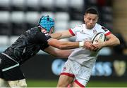 10 October 2020; John Cooney of Ulster is tackled by Justin Tipuric of Ospreys during the Guinness PRO14 match between Ospreys and Ulster at Liberty Stadium in Swansea, Wales. Photo by Chris Fairweather/Sportsfile