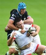 10 October 2020; Alan O'Connor of Ulster is tackled by Justin Tipuric of Ospreys during the Guinness PRO14 match between Ospreys and Ulster at Liberty Stadium in Swansea, Wales. Photo by Ben Evans/Sportsfile