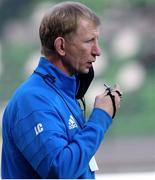 10 October 2020; Leinster head coach Leo Cullen prior to the Guinness PRO14 match between Benetton and Leinster at Stadio Monigo in Treviso, Italy. Photo by Daniele Resini/Sportsfile