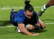 10 October 2020; James Lowe of Leinster scores his side's second try during the Guinness PRO14 match between Benetton and Leinster at Stadio Monigo in Treviso, Italy. Photo by Daniele Resini/Sportsfile
