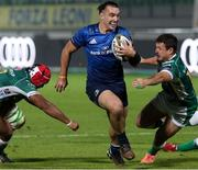 10 October 2020; James Lowe of Leinster makes a break on the way to scoring his side's second try during the Guinness PRO14 match between Benetton and Leinster at Stadio Monigo in Treviso, Italy. Photo by Daniele Resini/Sportsfile