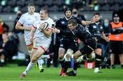 10 October 2020; Jacob Stockdale of Ulster evades the tackle of Stephen Myler of Ospreys during the Guinness PRO14 match between Ospreys and Ulster at Liberty Stadium in Swansea, Wales. Photo by Ben Evans/Sportsfile