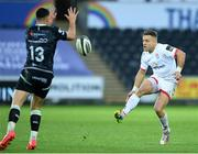 10 October 2020; Ian Madigan of Ulster chips through during the Guinness PRO14 match between Ospreys and Ulster at Liberty Stadium in Swansea, Wales. Photo by Ben Evans/Sportsfile