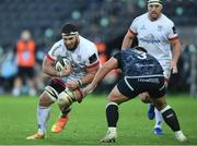 10 October 2020; Marcell Coetzee of Ulster is tackled by Tom Botha of Ospreys during the Guinness PRO14 match between Ospreys and Ulster at Liberty Stadium in Swansea, Wales. Photo by Ben Evans/Sportsfile