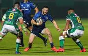10 October 2020; Robbie Henshaw of Leinster in action against Sebastian Negri, left, and Toa Halafihi of Benetton during the Guinness PRO14 match between Benetton and Leinster at Stadio Monigo in Treviso, Italy. Photo by Daniele Resini/Sportsfile