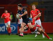 10 October 2020; Damien Hoyland of Edinburgh is tackled by Tadhg Beirne of Munster during the Guinness PRO14 match between Munster and Edinburgh at Thomond Park in Limerick. Photo by Ramsey Cardy/Sportsfile
