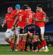 10 October 2020; CJ Stander, 8, and Conor Murray of Munster following the Guinness PRO14 match between Munster and Edinburgh at Thomond Park in Limerick. Photo by Ramsey Cardy/Sportsfile