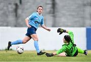 10 October 2020; Emily Whelan of Shelbourne and Michaela Mitchell of Treaty United during the Women's National League match between Treaty United and Shelbourne at Jackman Park in Limerick. Photo by Ramsey Cardy/Sportsfile